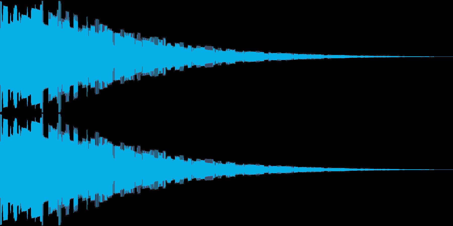 8ビット風ゲームのやられた時の再生済みの波形