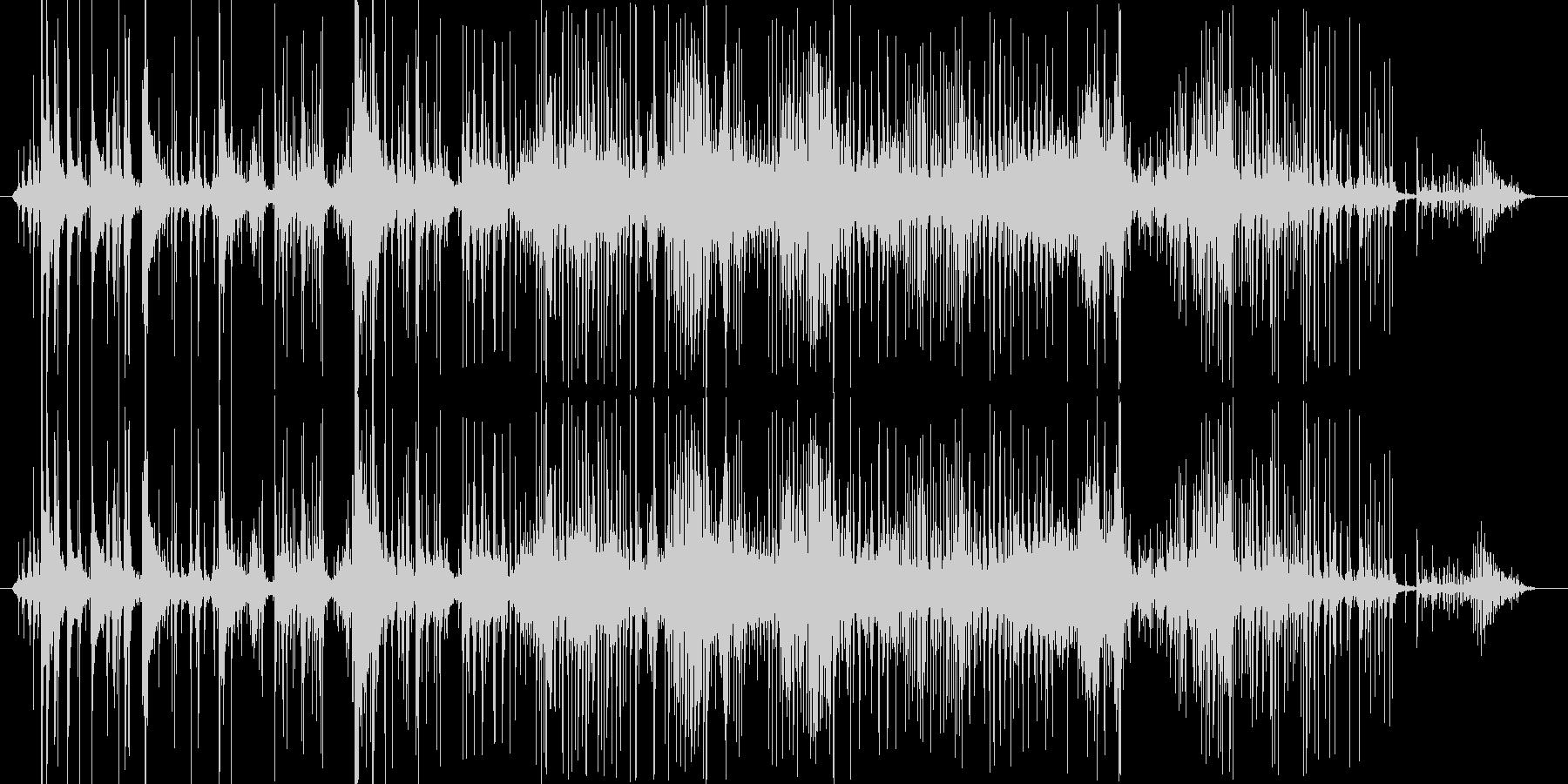 押し込めるような音の未再生の波形
