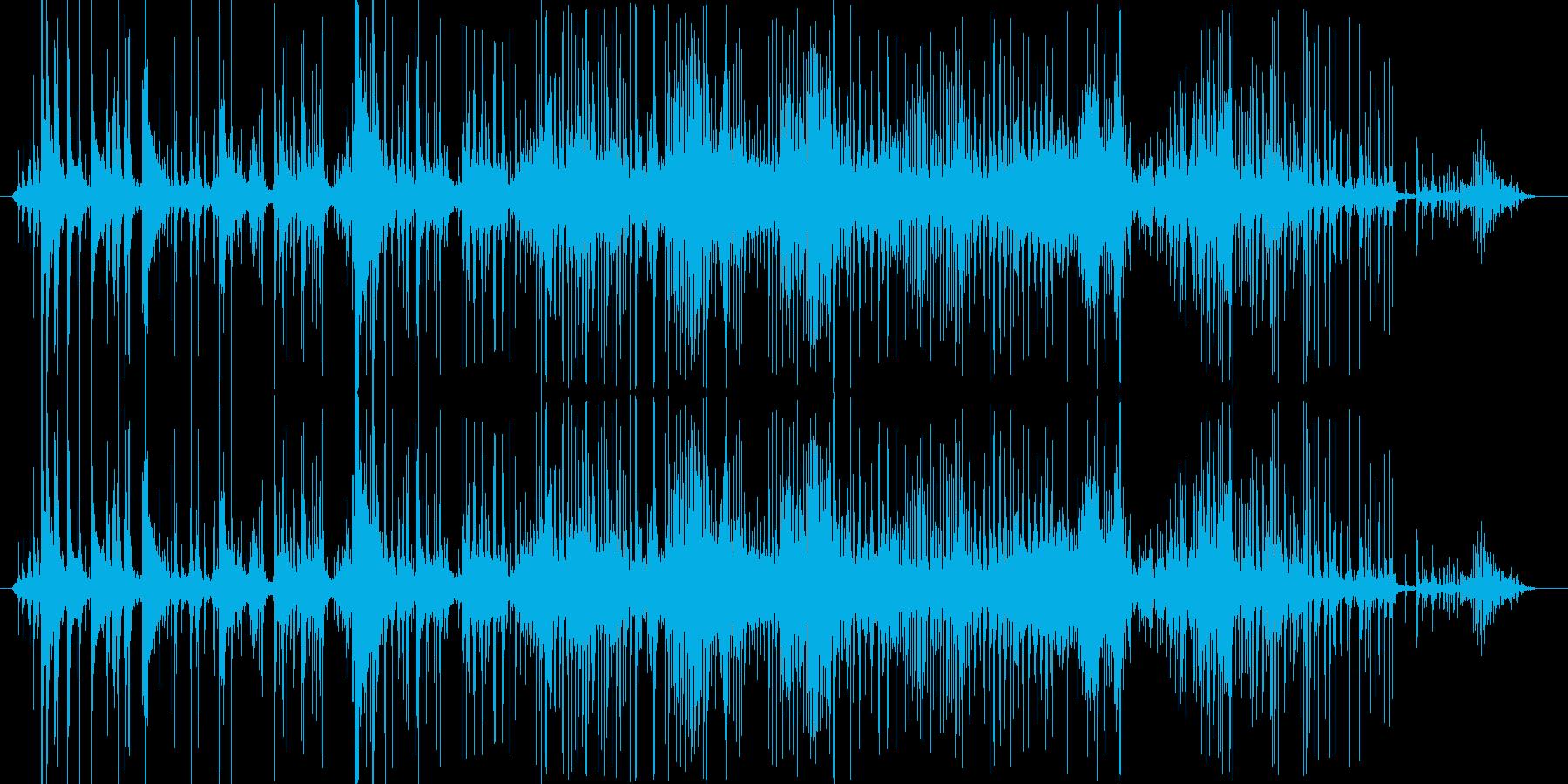 押し込めるような音の再生済みの波形