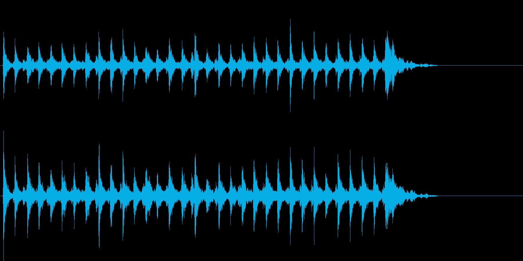Xmasに最適トナカイベルのループ音02の再生済みの波形