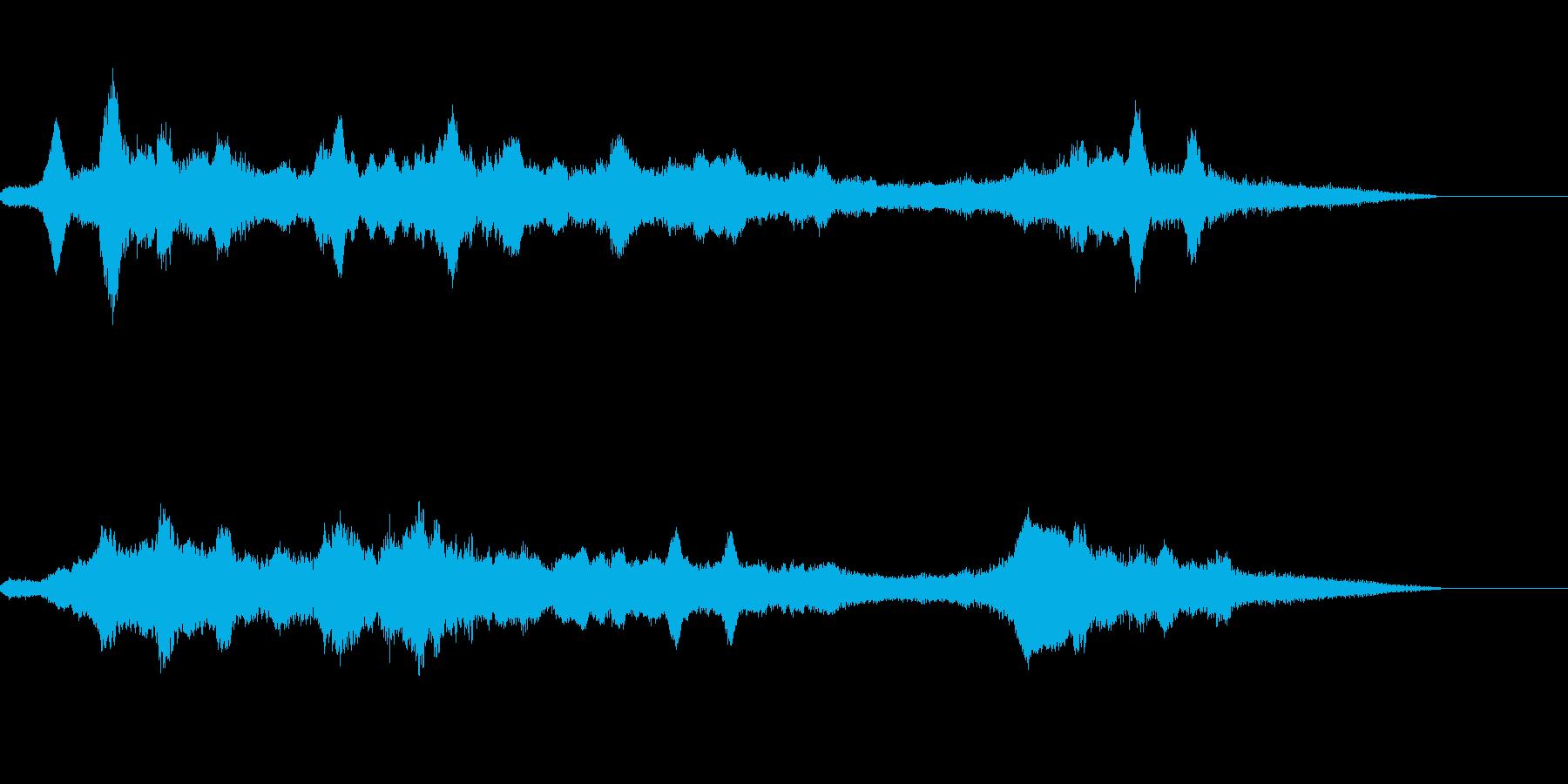 異世界などの背景音の再生済みの波形
