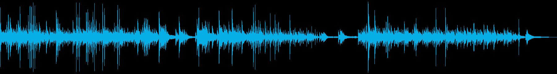 静穏で神秘的な雰囲気のピアノソロBGMの再生済みの波形