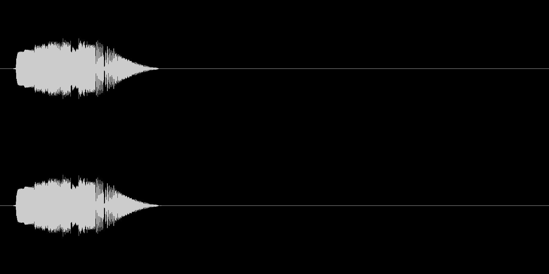 ボタン音(タッチ、戻る、アプリ)の未再生の波形