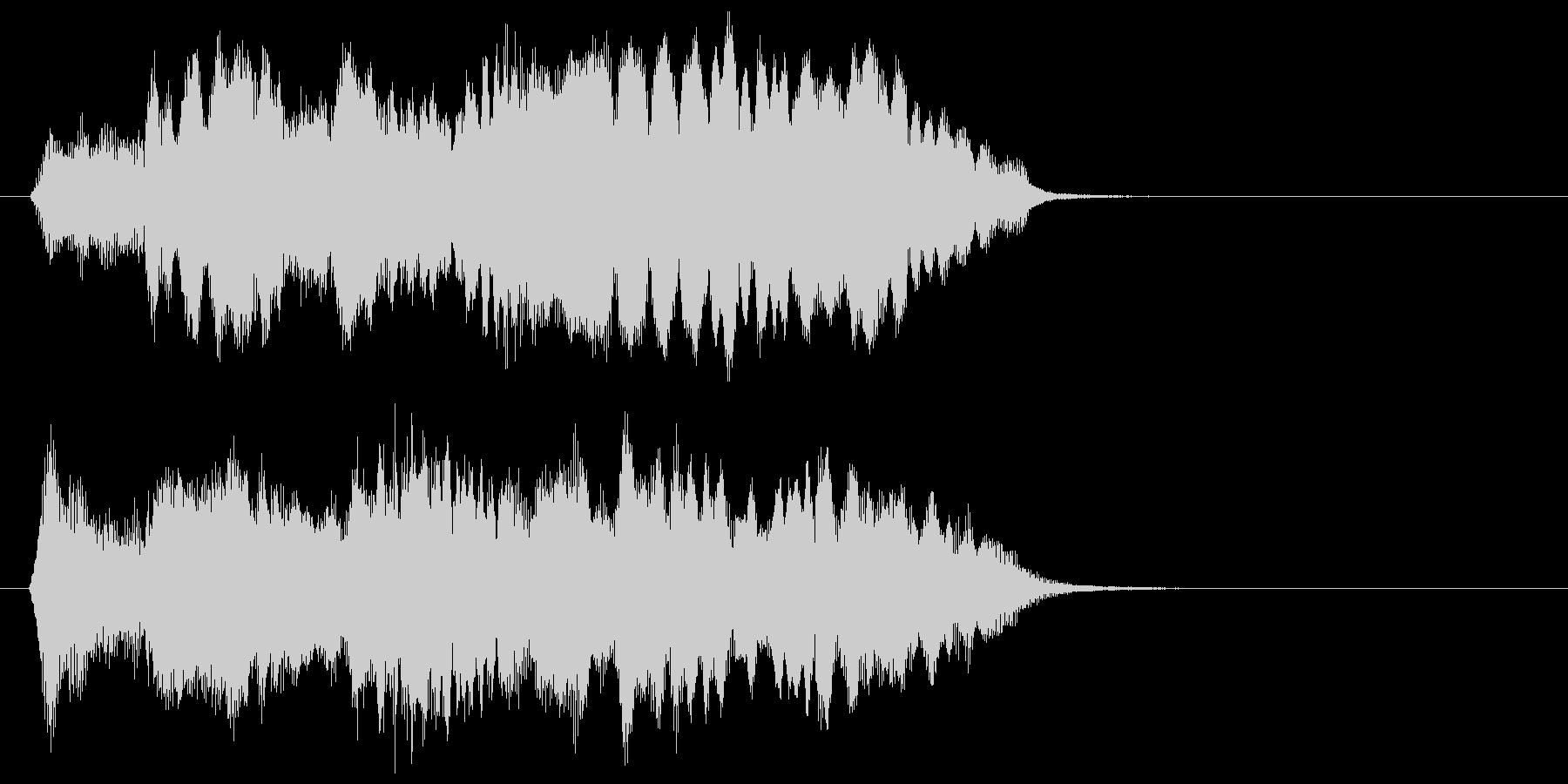 フルートとストリングスのジングルの未再生の波形