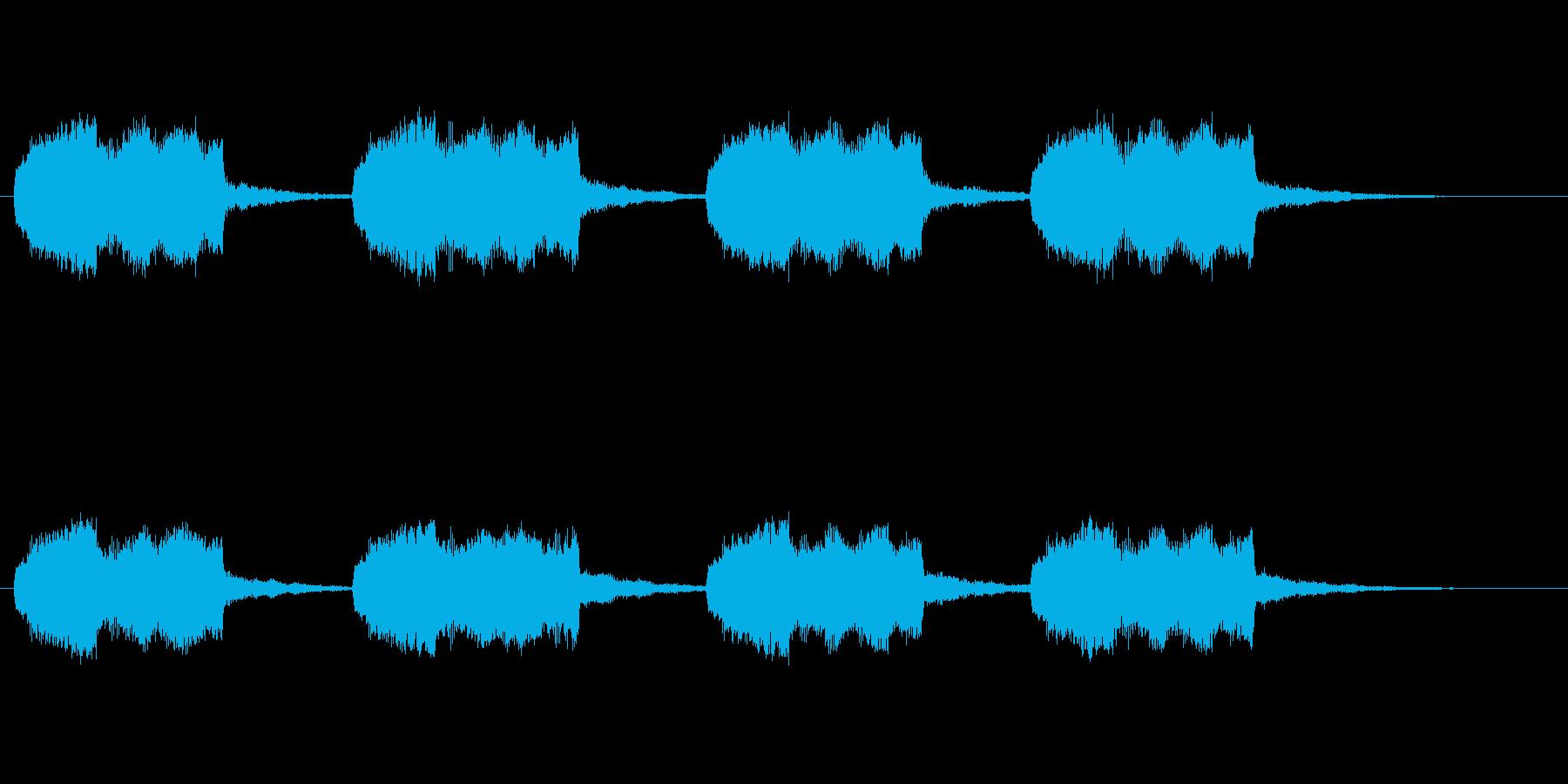 ロボットやロケット工場とかのブザー音の再生済みの波形
