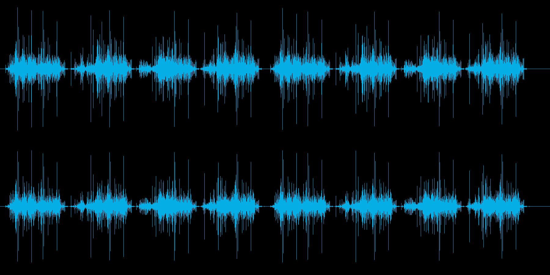 ずるずると這いずるような足音_ホラー系の再生済みの波形