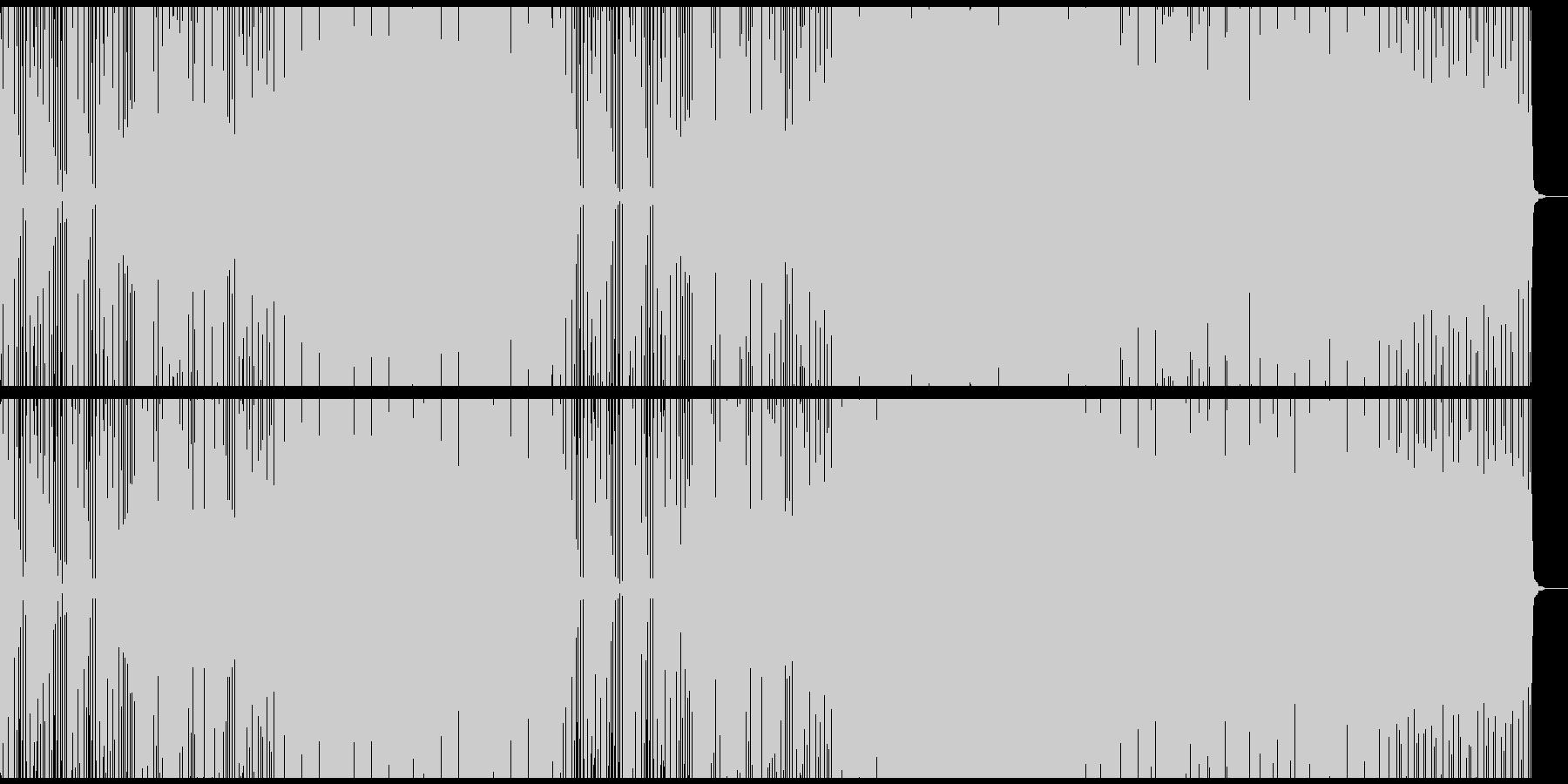 綺羅びやかなシンセ音のEDM風バラードの未再生の波形