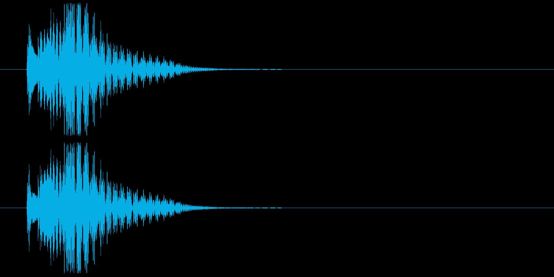木琴系の場面展開SEの再生済みの波形