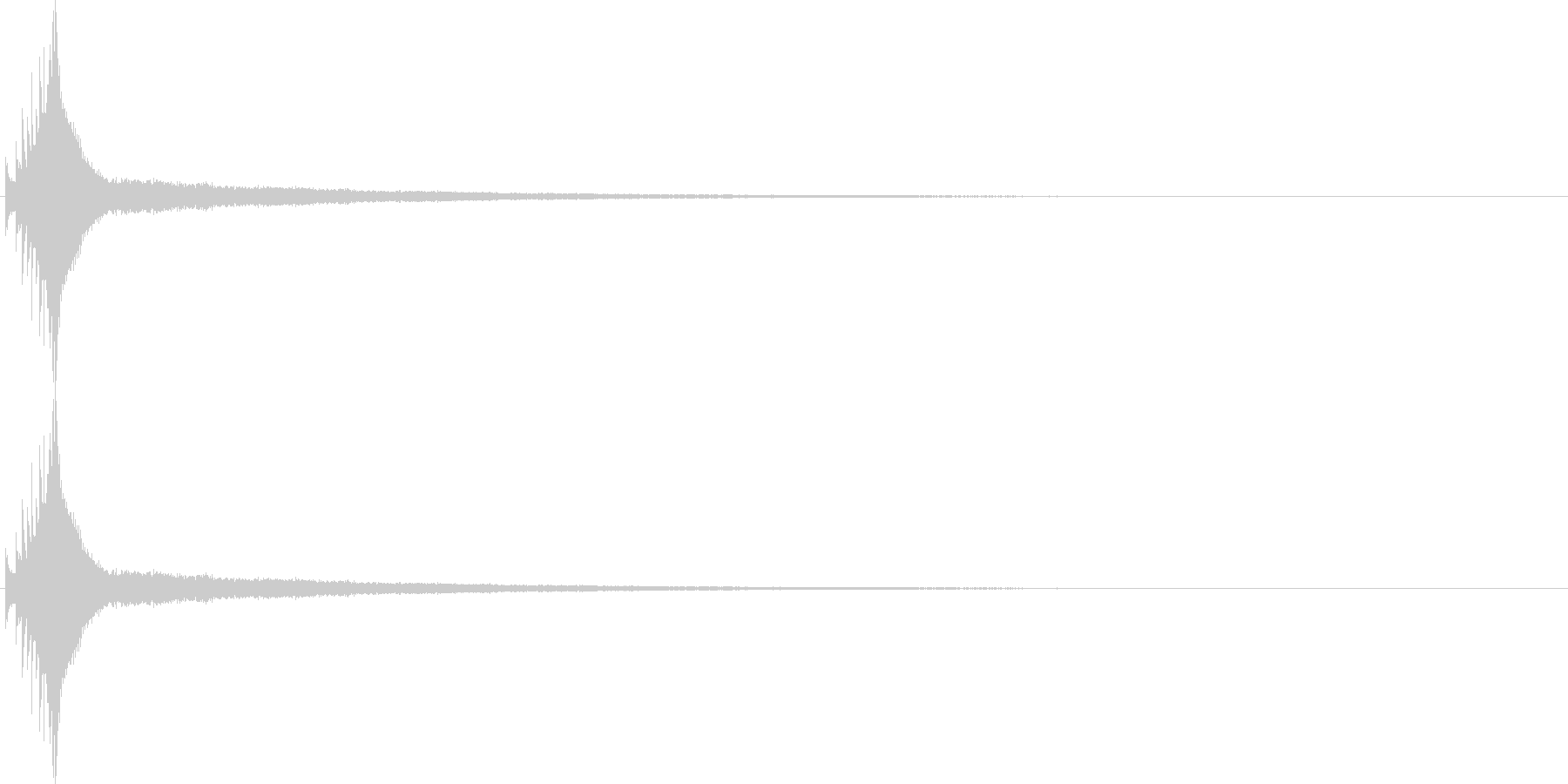 キラーン!オーソドックスなキラキラ音。1の未再生の波形