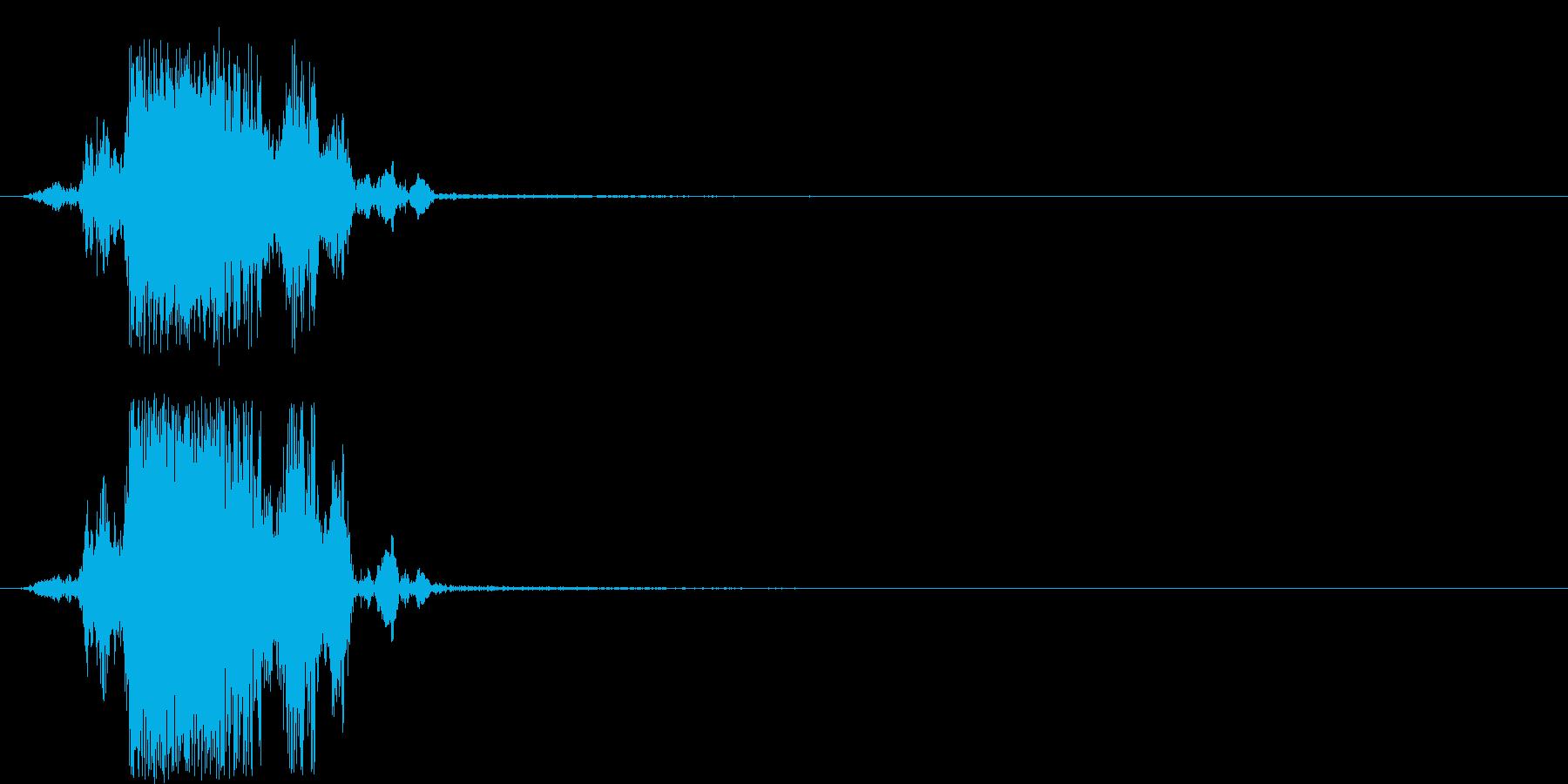 ザク 穴掘り音の再生済みの波形