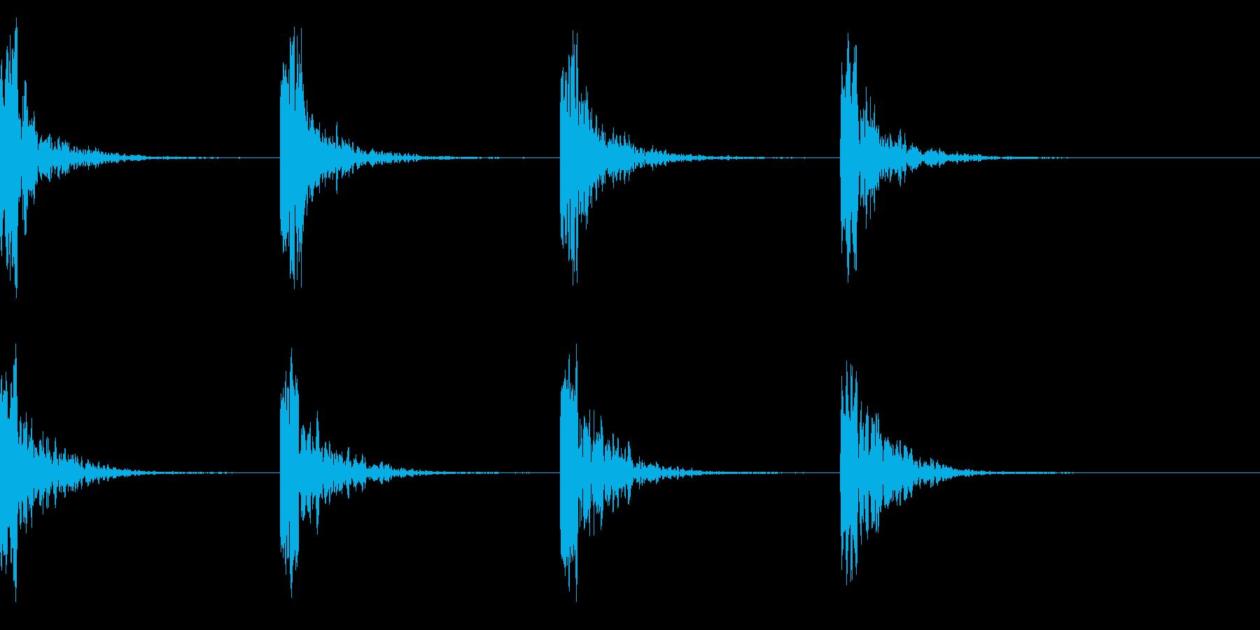 コーン・コーン・潜水艦のソナー音の再生済みの波形