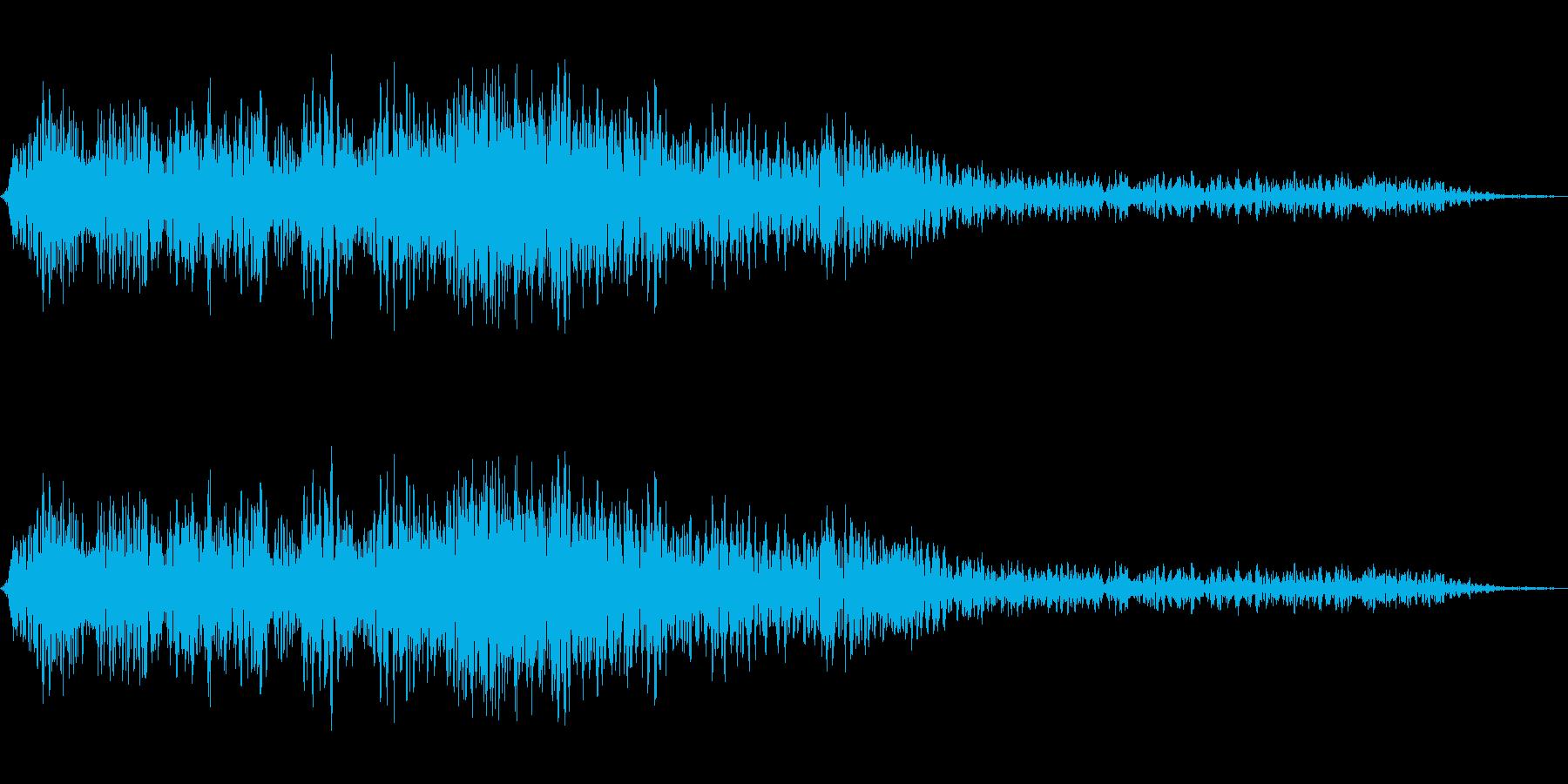 口径が大きいレーザーガンの再生済みの波形