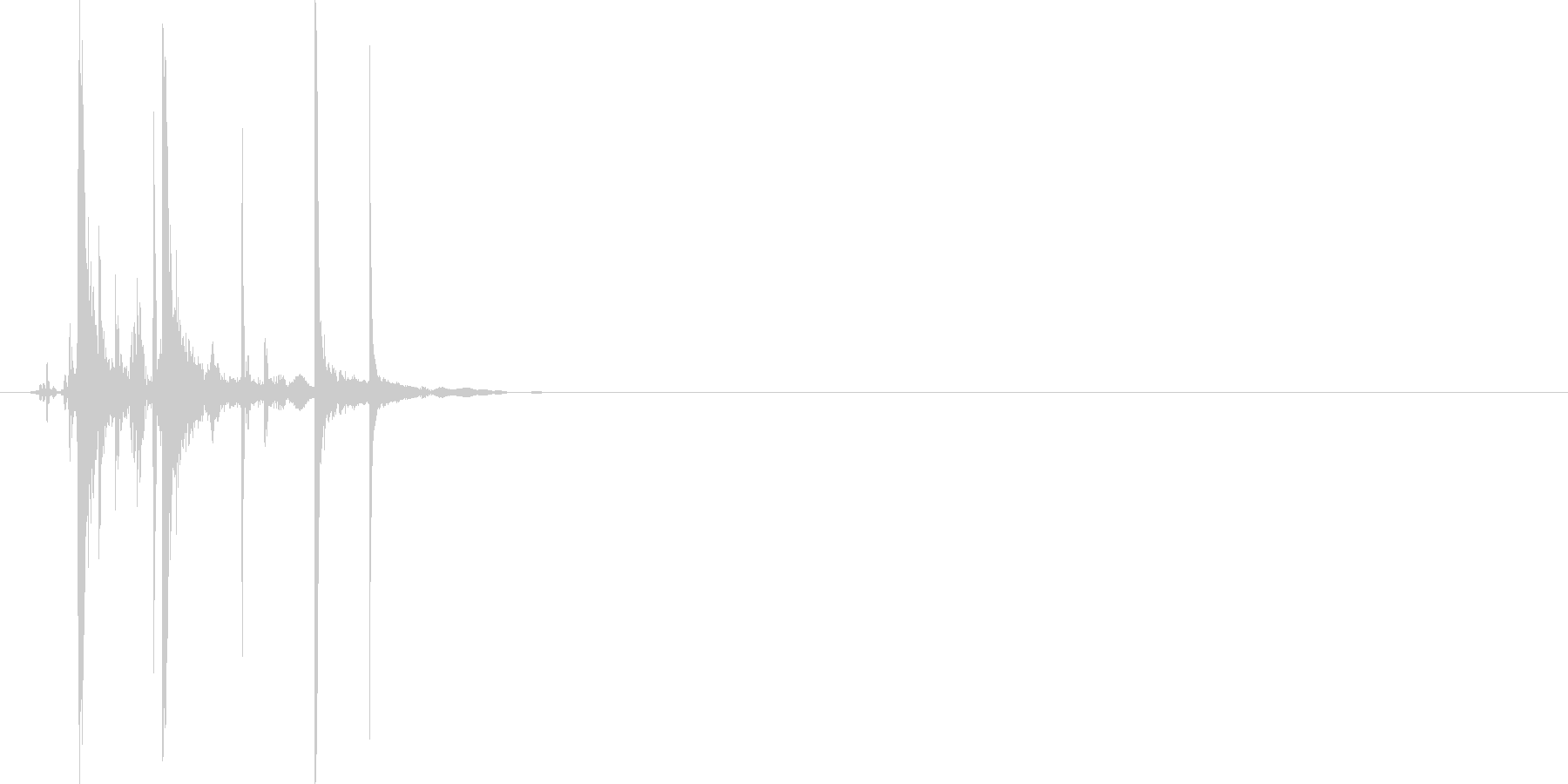 ぷちっ(アルミ缶つぶれた音)の未再生の波形