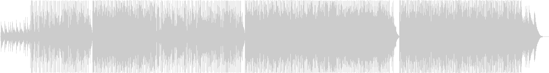 ピアノとギターの感動バラードロックの未再生の波形