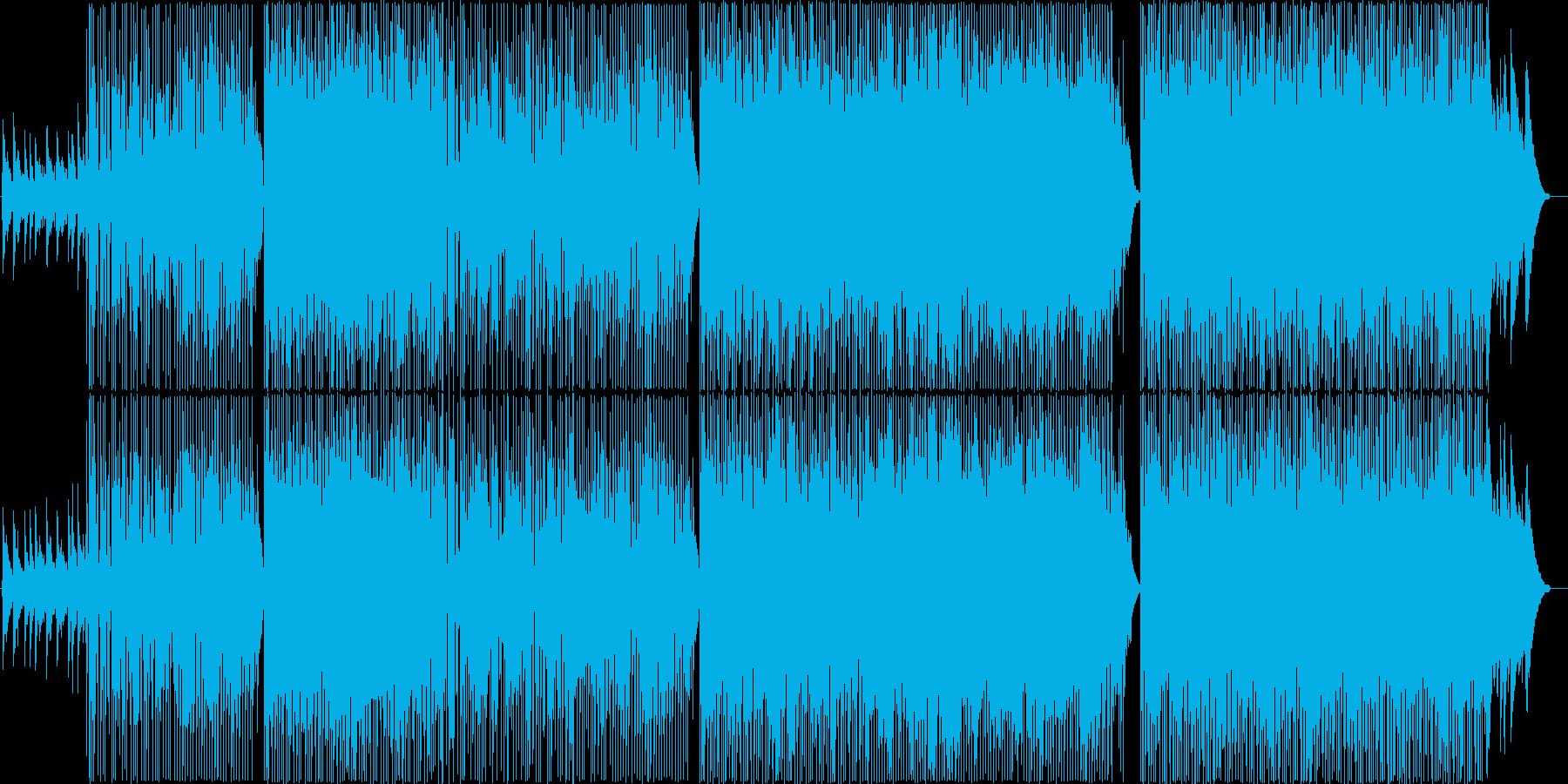 ピアノとギターの感動バラードロックの再生済みの波形
