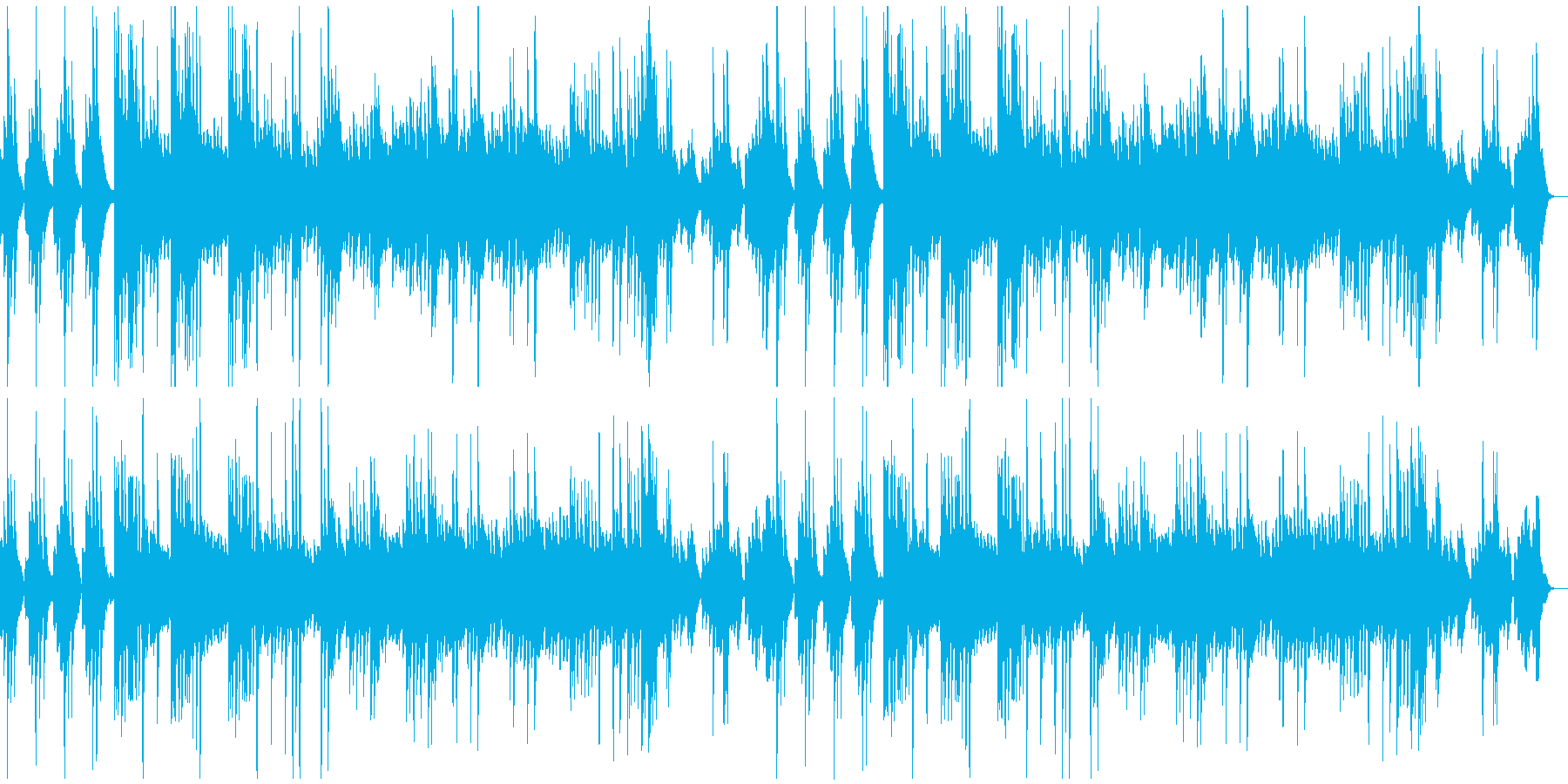 緩やかで滑らか。ソロ・ピアノ曲の再生済みの波形