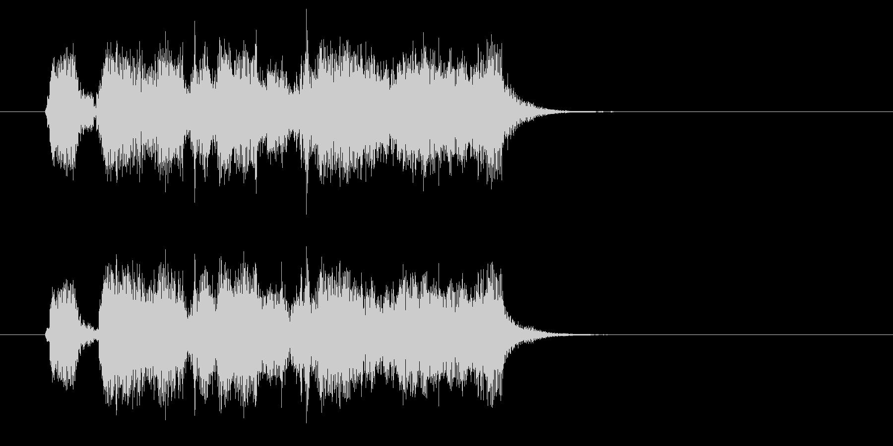 勢いがありクールでユニークなBGMの未再生の波形