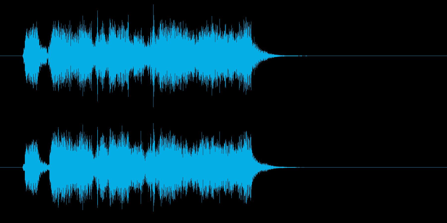 勢いがありクールでユニークなBGMの再生済みの波形