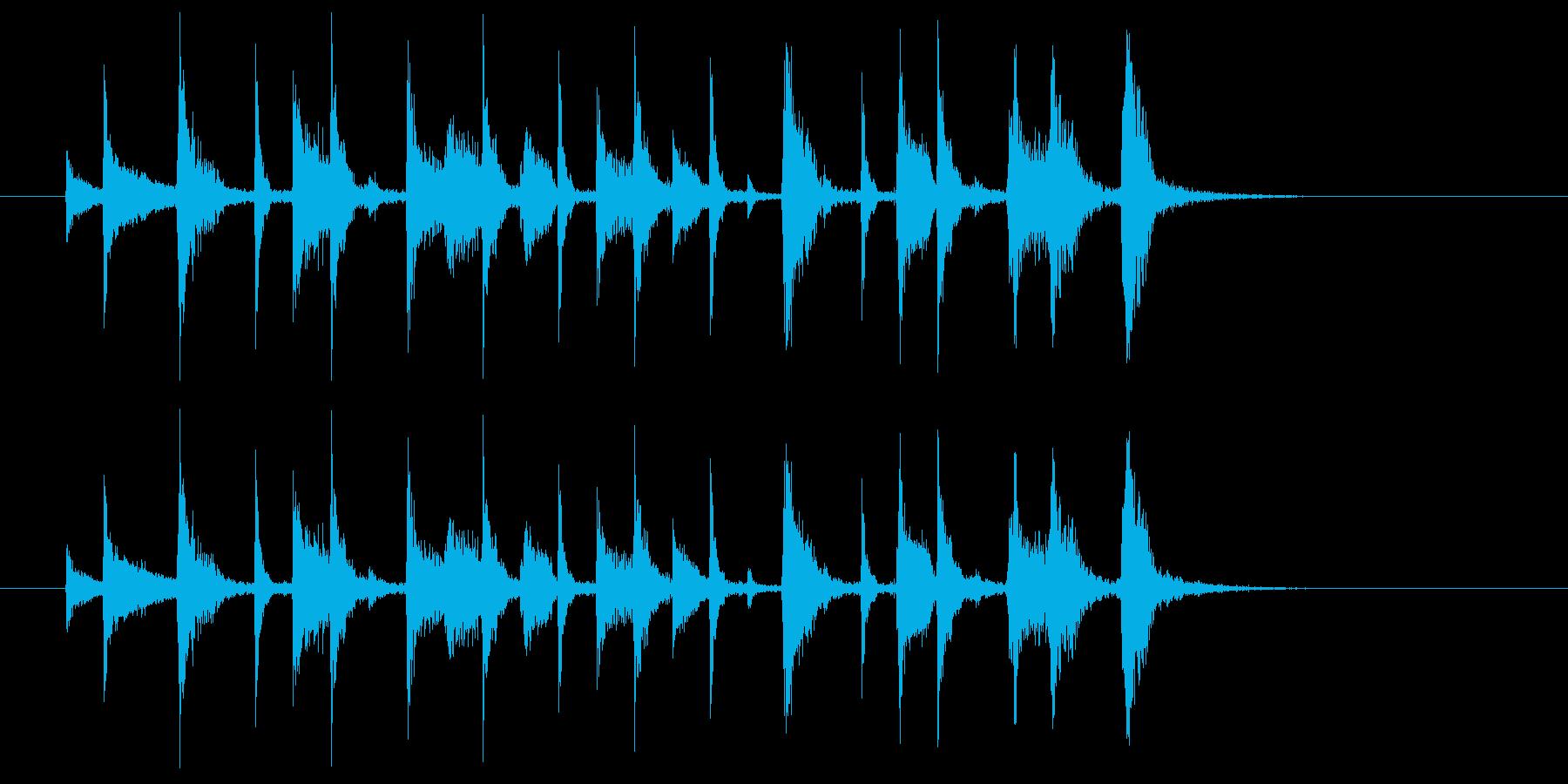 ジャジーなジングル(アイキャッチ等に)の再生済みの波形