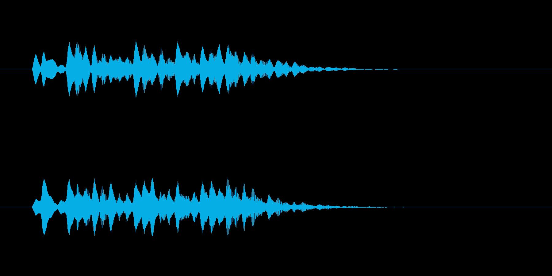 神秘的で幻想的なシンセジングルの再生済みの波形