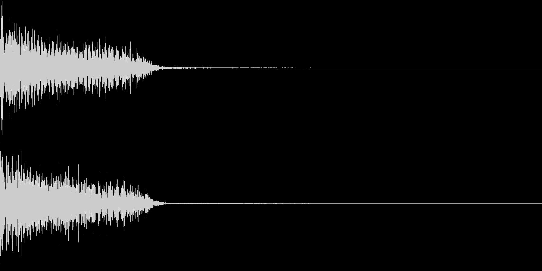 InvaderBuzz 発砲音 16の未再生の波形