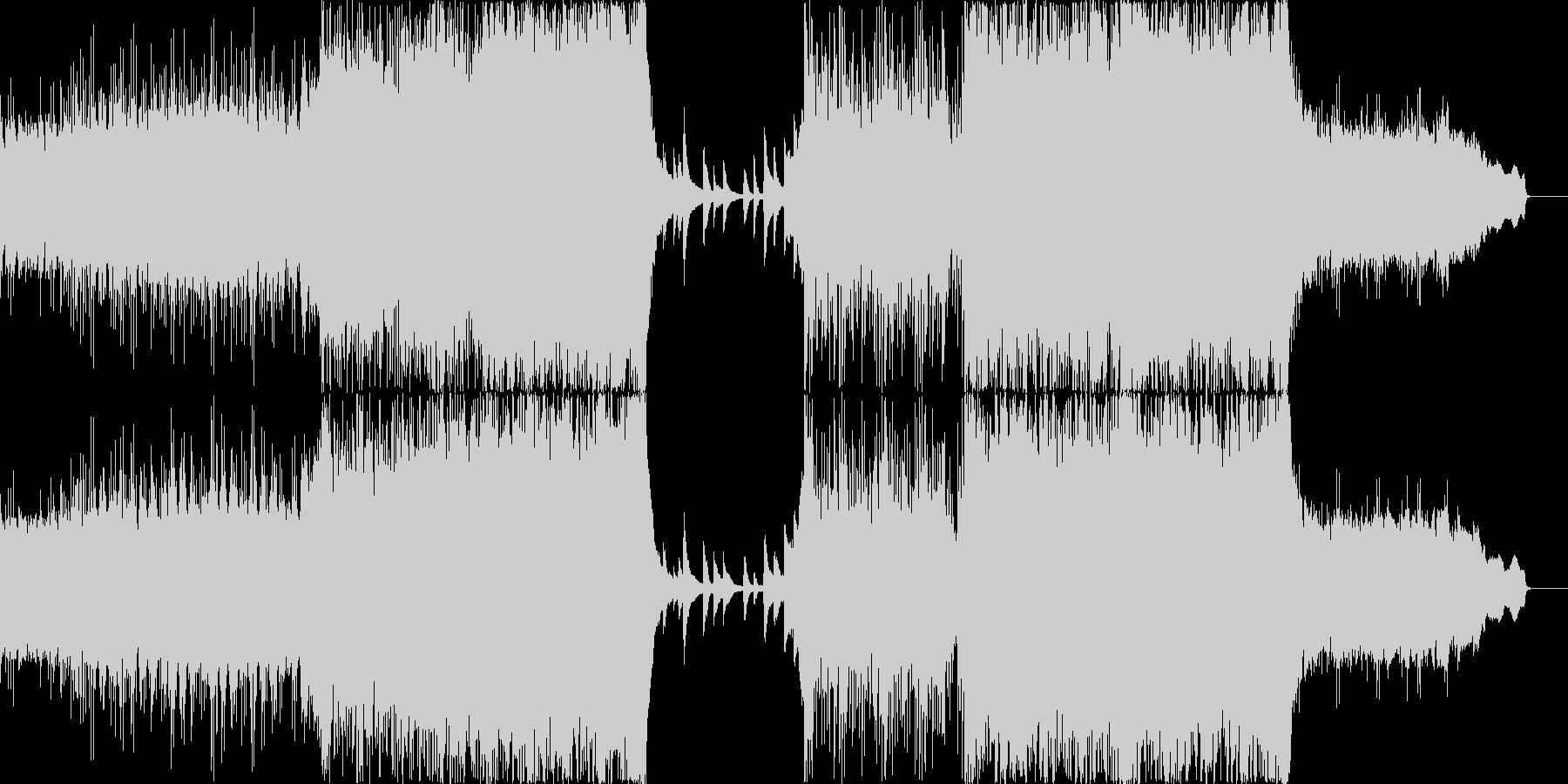 シンフォニックな壮大さとピアノ・ギターの未再生の波形