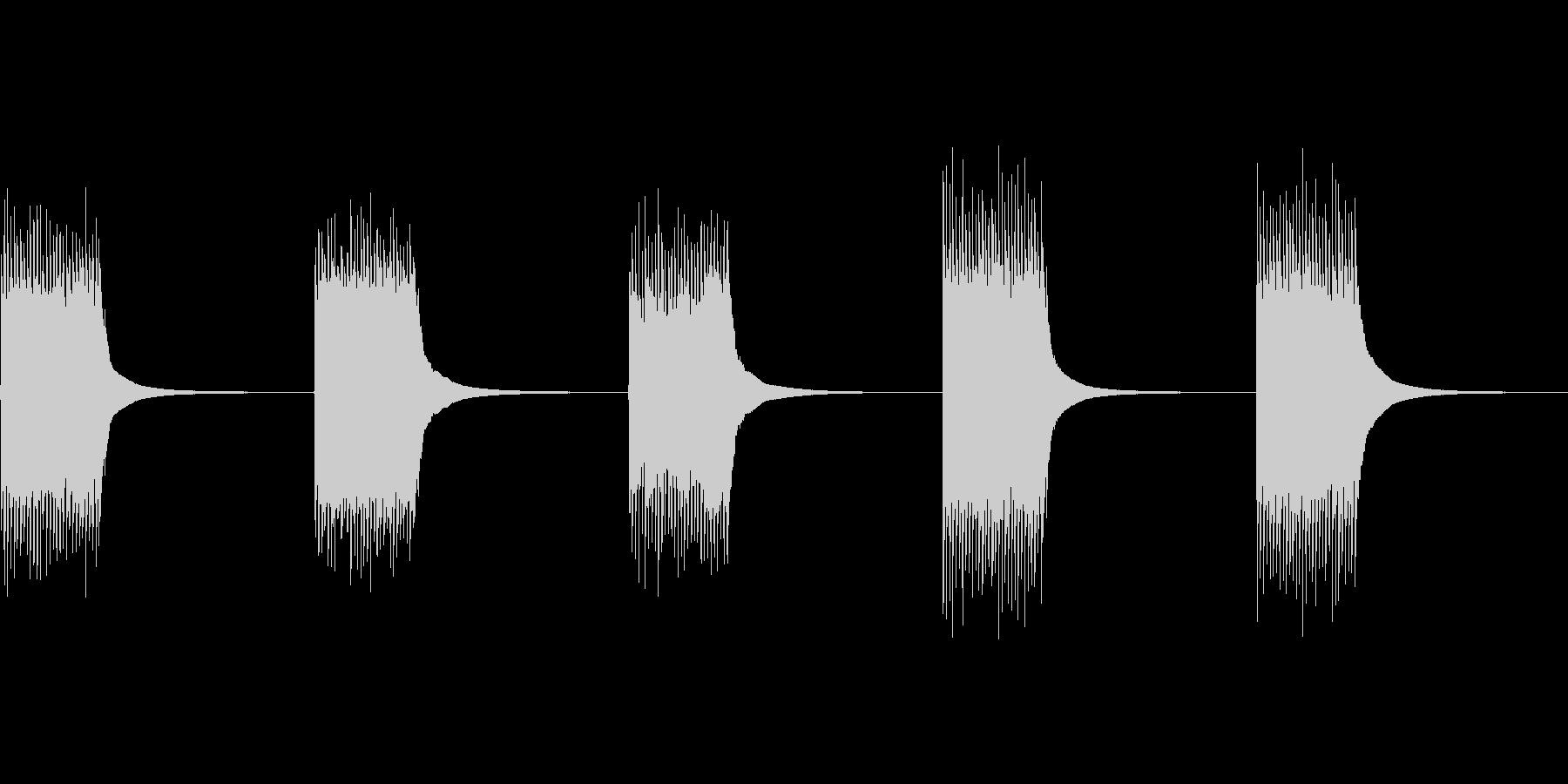 【効果】ジリリン!古い電話機のベル(連発の未再生の波形