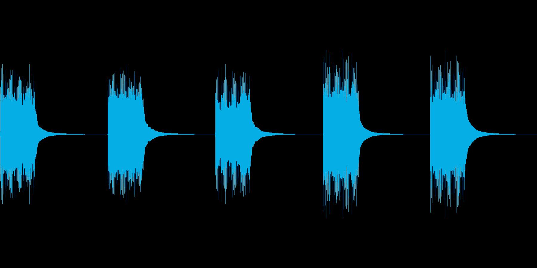 【効果】ジリリン!古い電話機のベル(連発の再生済みの波形
