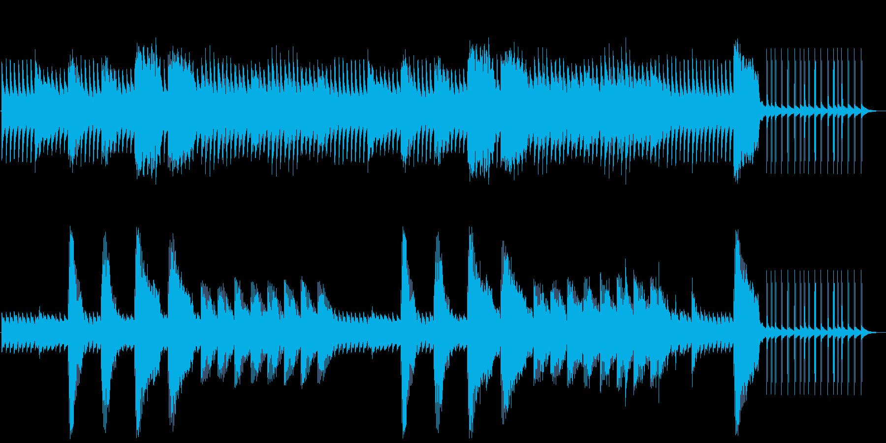 架空のサスペンス映画音楽の再生済みの波形