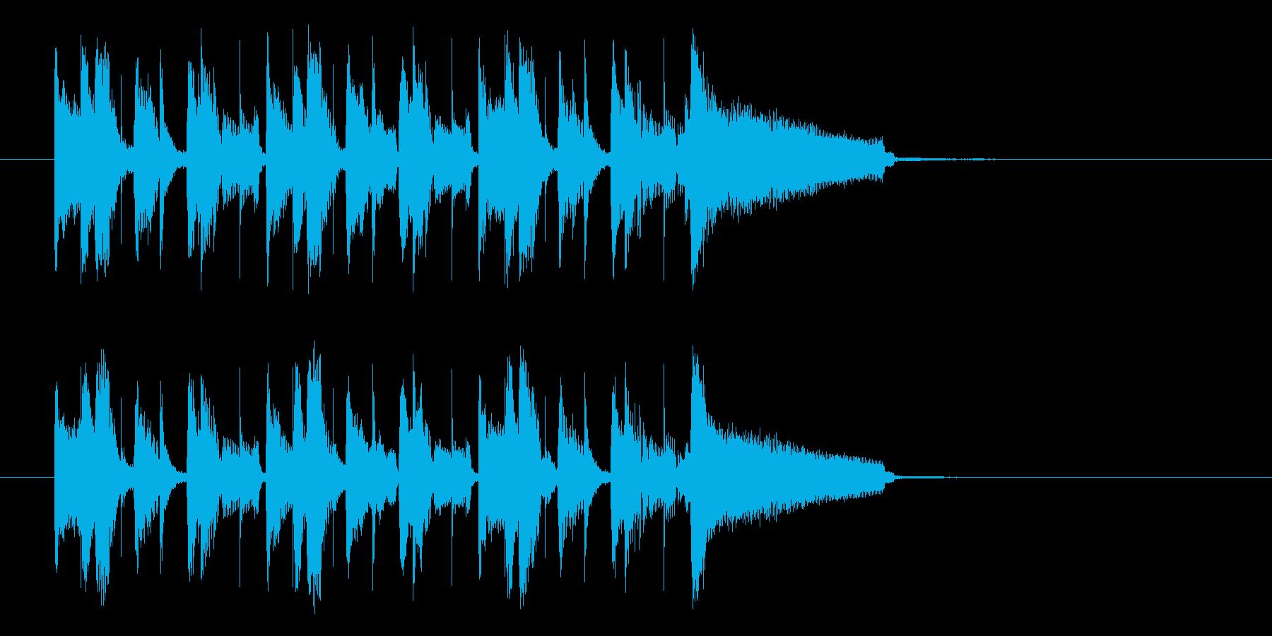南米のリズムのジングル、サウンドロゴの再生済みの波形
