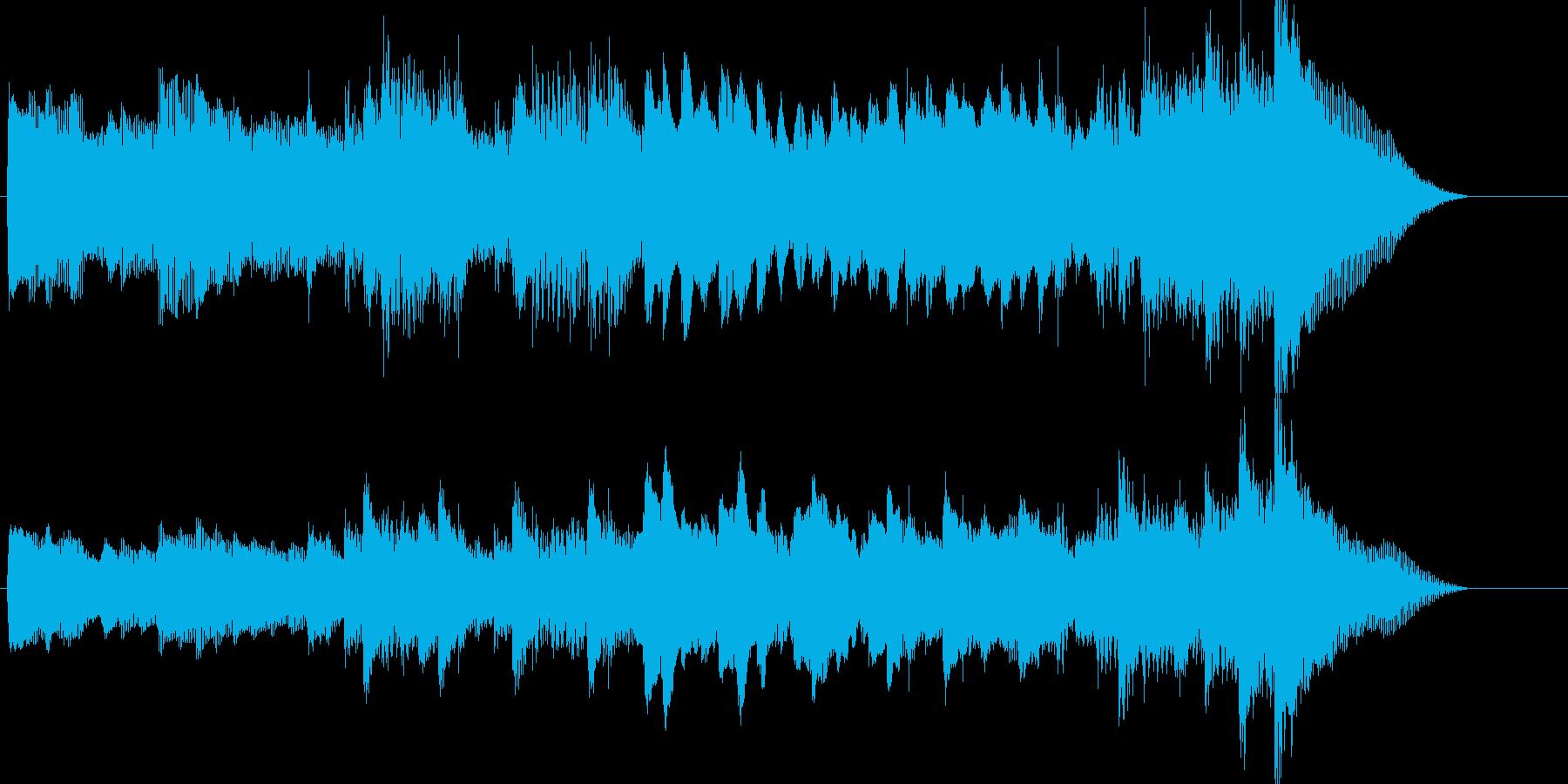 穏やかで明るめ、淡々としたピアノ曲の再生済みの波形