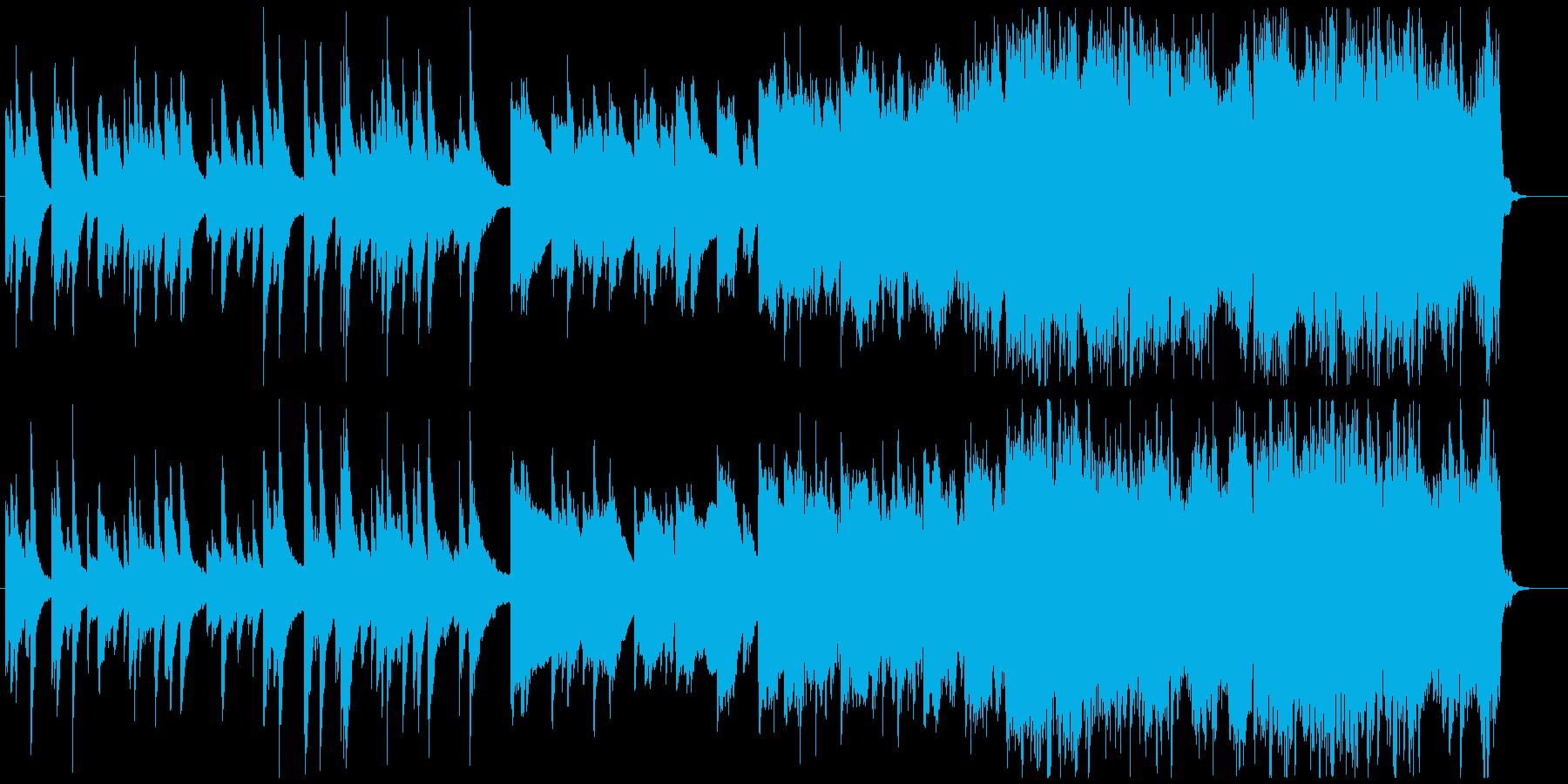穏やかな朝を思わせる管弦ポップスの再生済みの波形