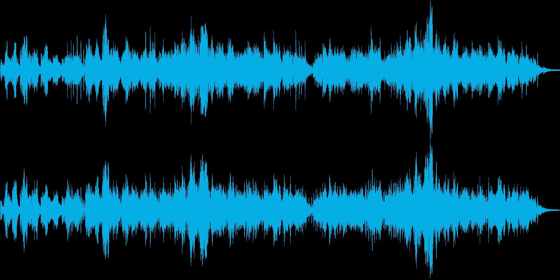 フルートとアコースティックギターの生音…の再生済みの波形