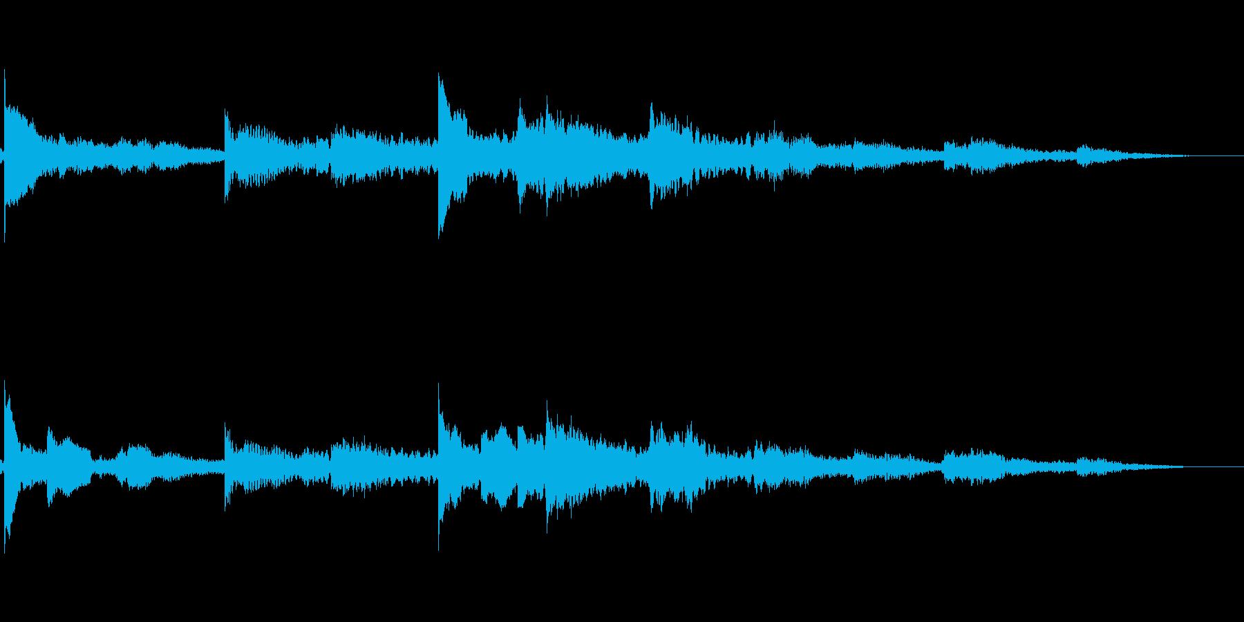 冬を感じるジングルBGMの再生済みの波形