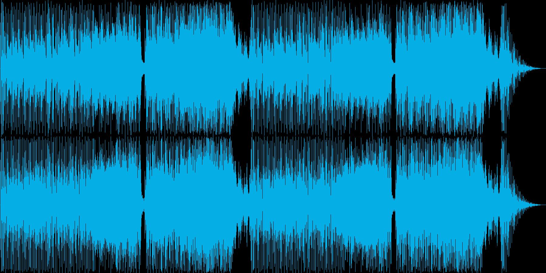 明るくほのぼのとした雰囲気のポップな曲の再生済みの波形