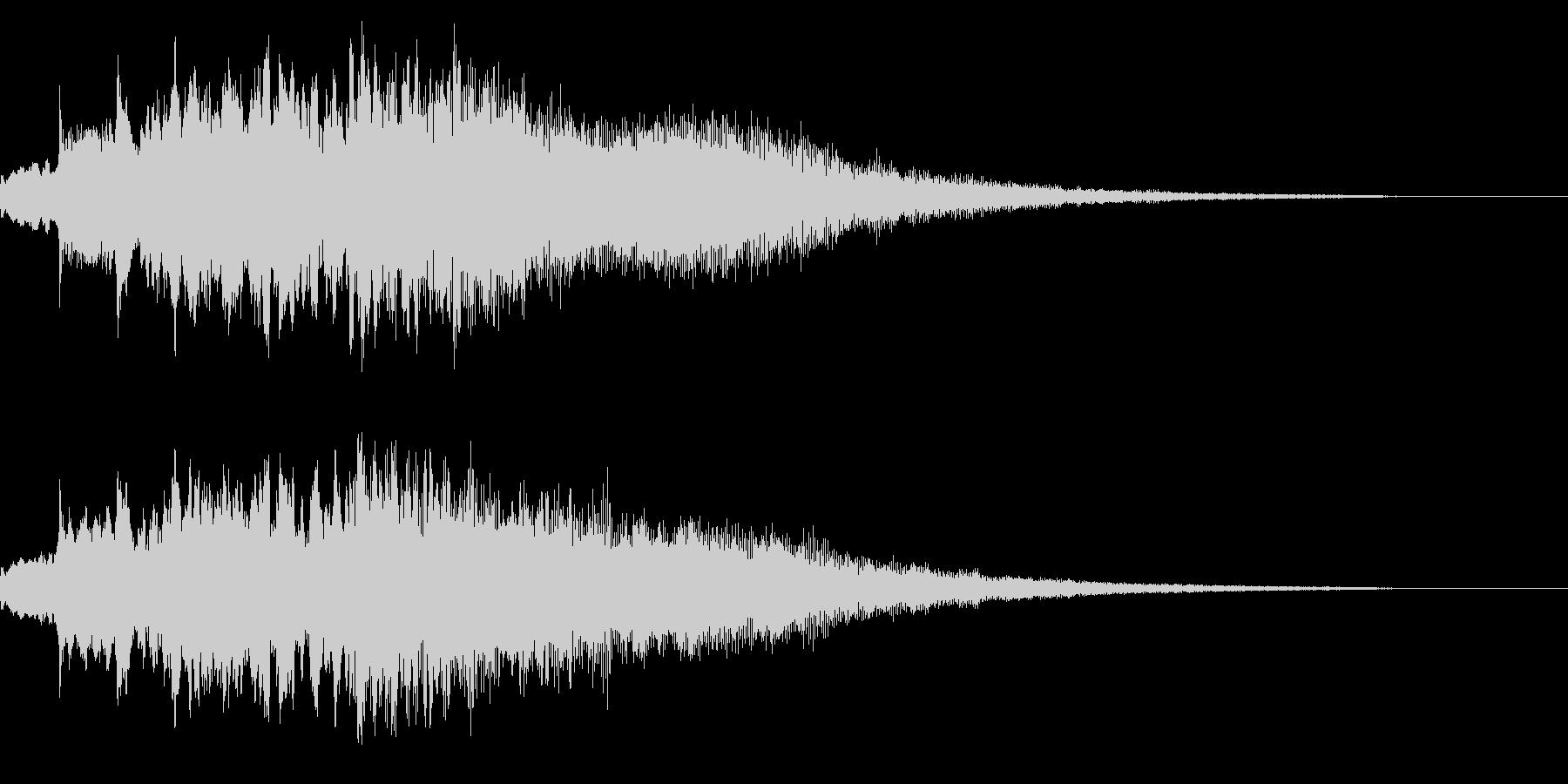 ピアノを加工したサウンドロゴの未再生の波形