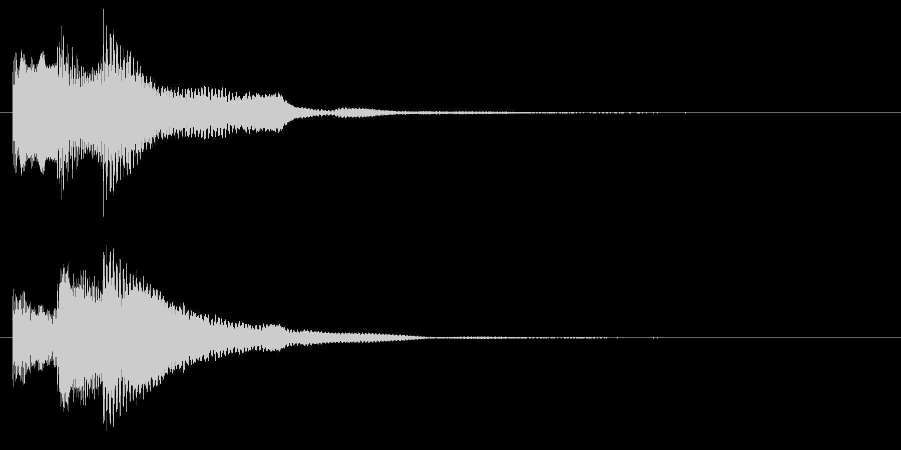 ミステリアスなピアノ ホラー きっかけの未再生の波形