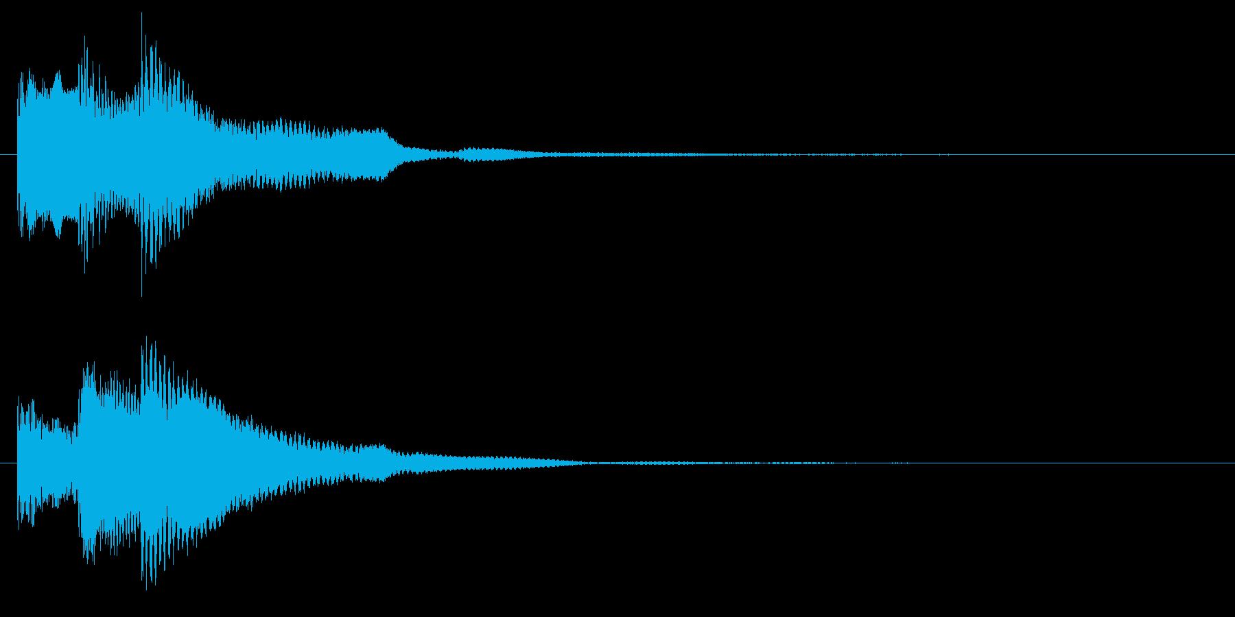 ミステリアスなピアノ ホラー きっかけの再生済みの波形