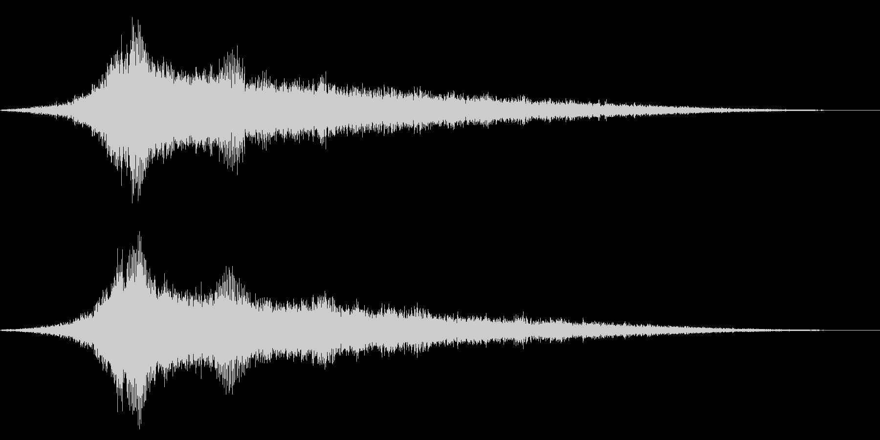 ホラー系アタック音64の未再生の波形