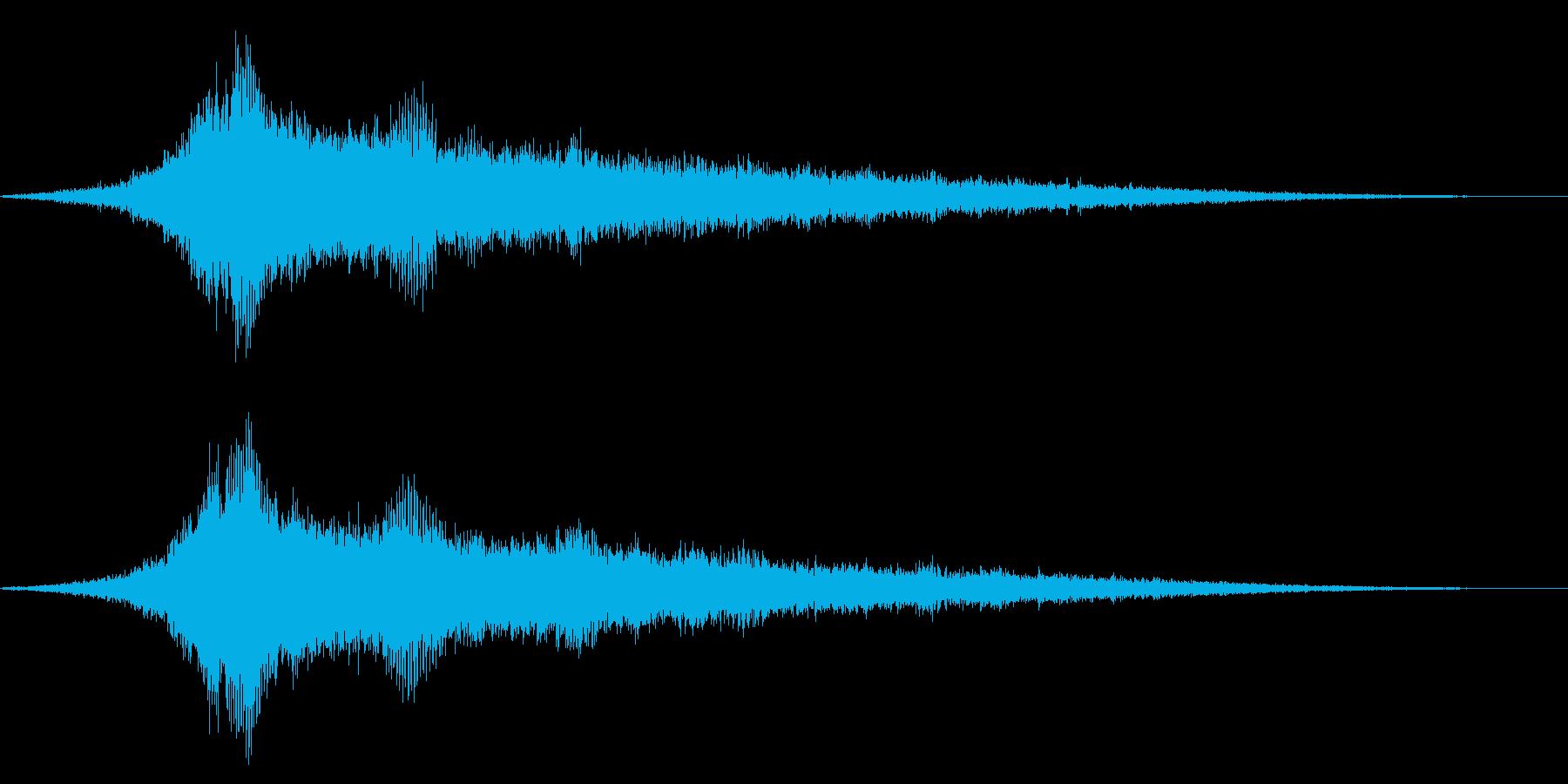 ホラー系アタック音64の再生済みの波形