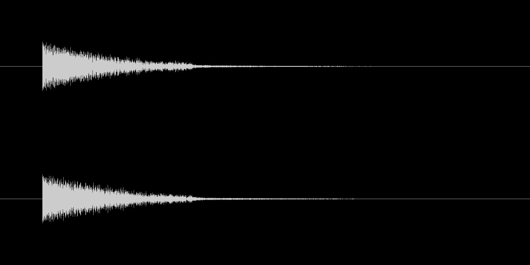 何かを吸収したような音の未再生の波形