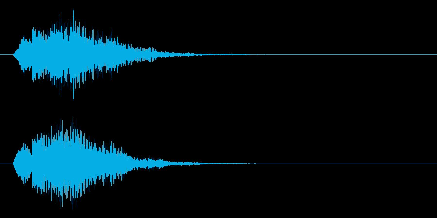 キュイン/レベルアップ/SF系/エコーの再生済みの波形