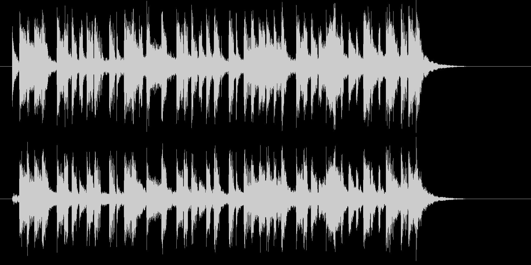 緩やかでキャッチ―なシンセポップジングルの未再生の波形