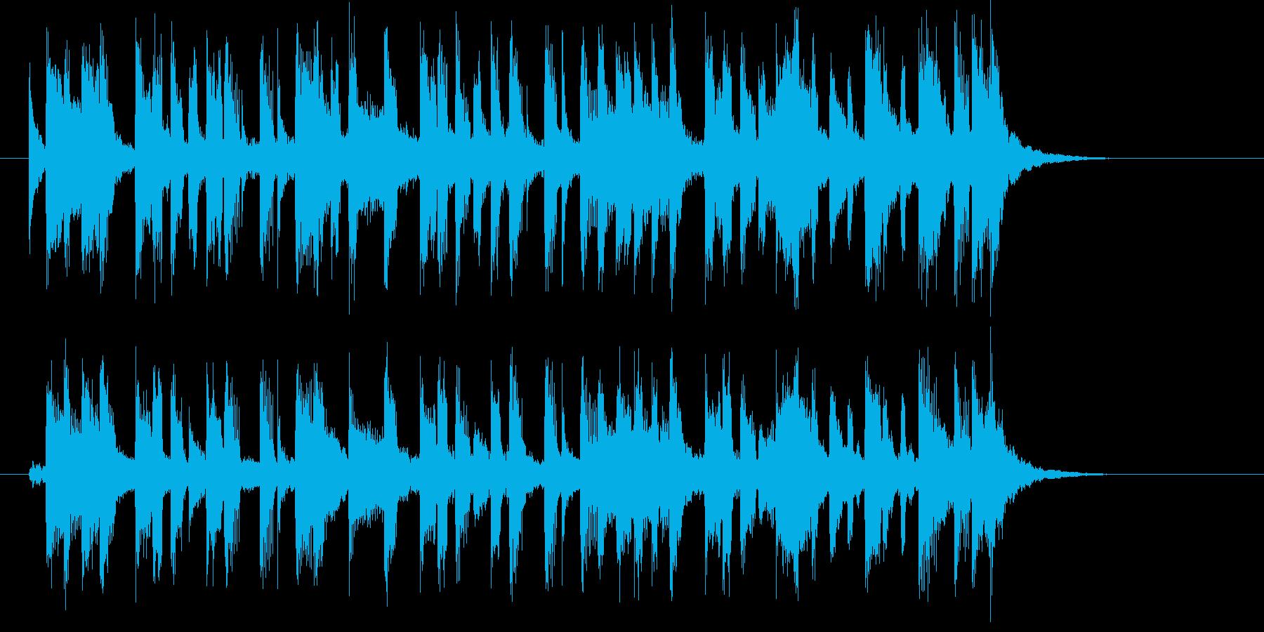 緩やかでキャッチ―なシンセポップジングルの再生済みの波形