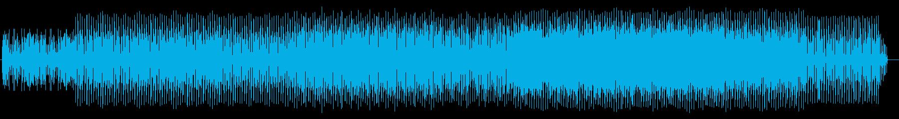 リズミカルで神秘的なテクノポップの再生済みの波形