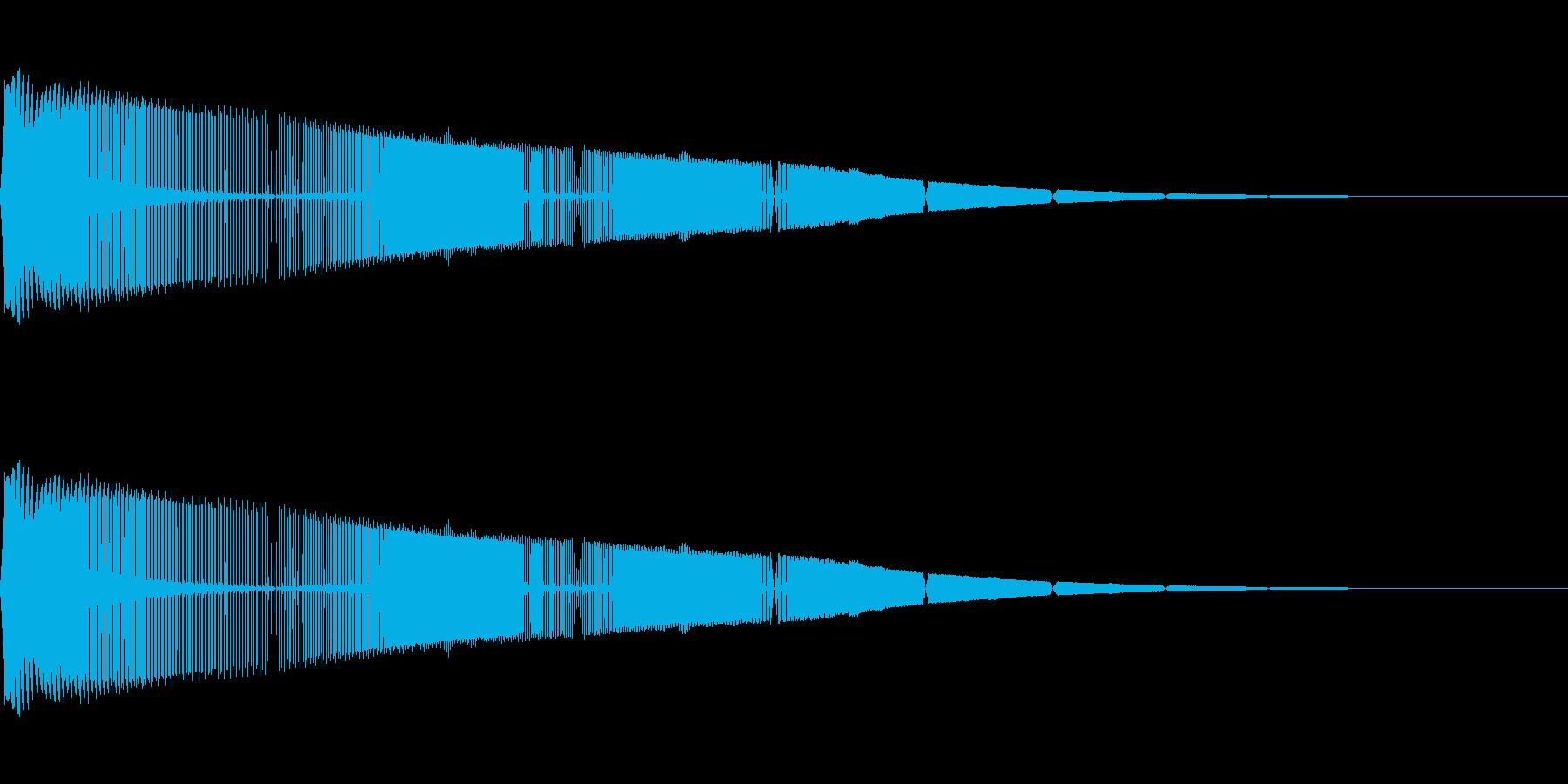 レトロゲームにありそうな上昇音の再生済みの波形