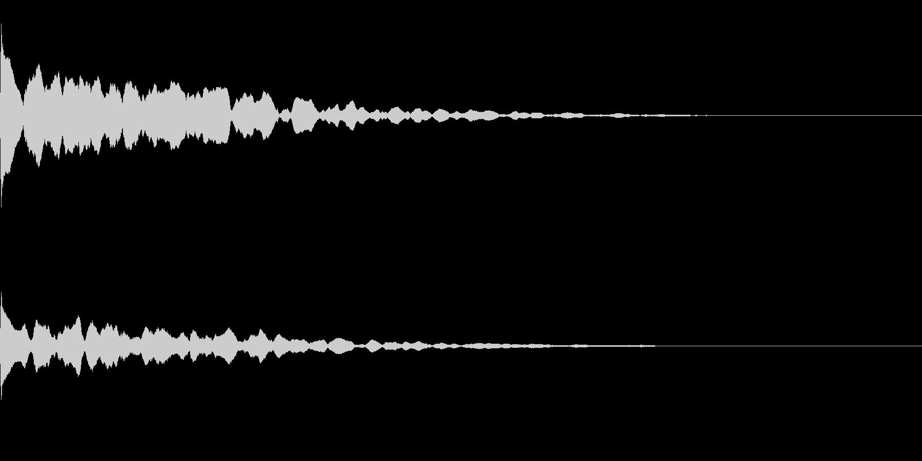 ポーン(ふとした気づきなどの電子音)の未再生の波形