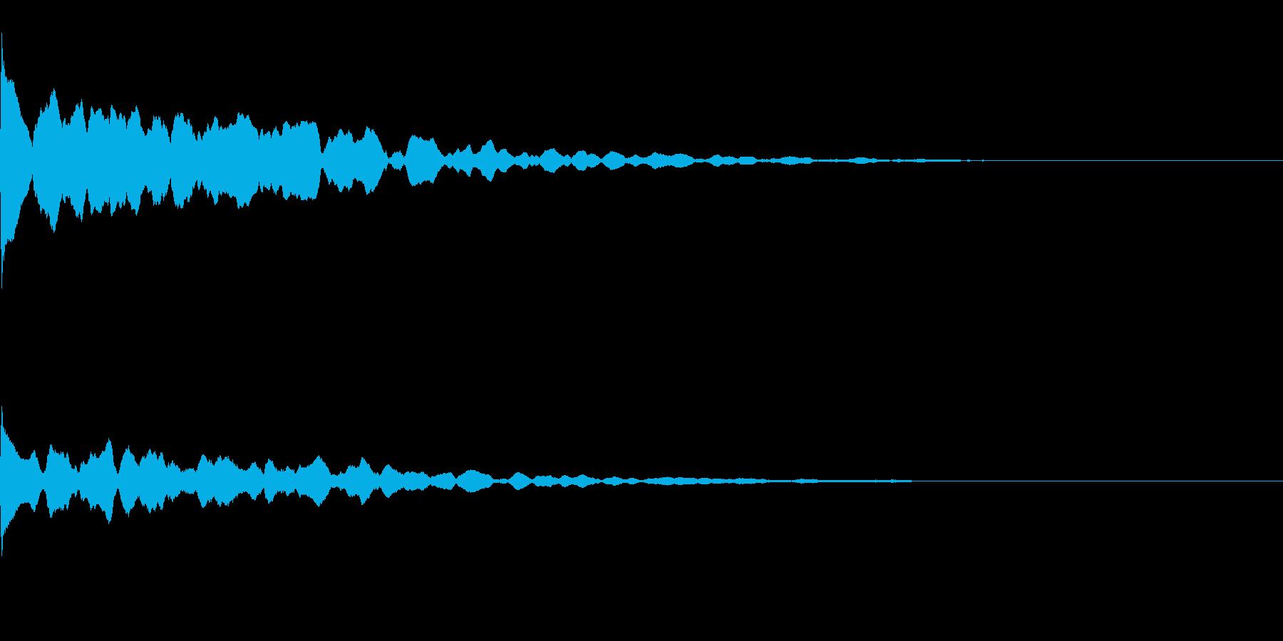 ポーン(ふとした気づきなどの電子音)の再生済みの波形