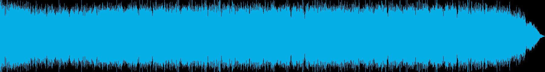 少年漫画によくあるオーラ表現の効果音の再生済みの波形