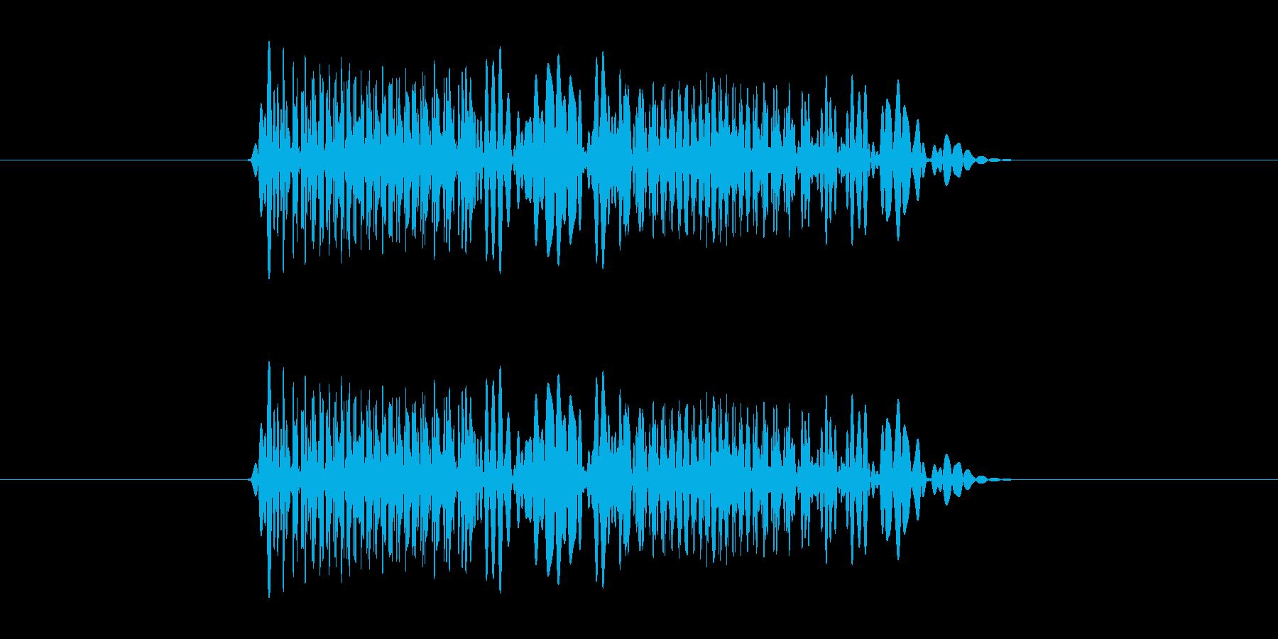 ユーンユーン!回転音の再生済みの波形